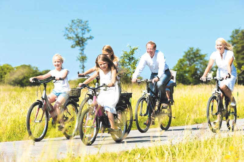 Rodzinnie na rowerach