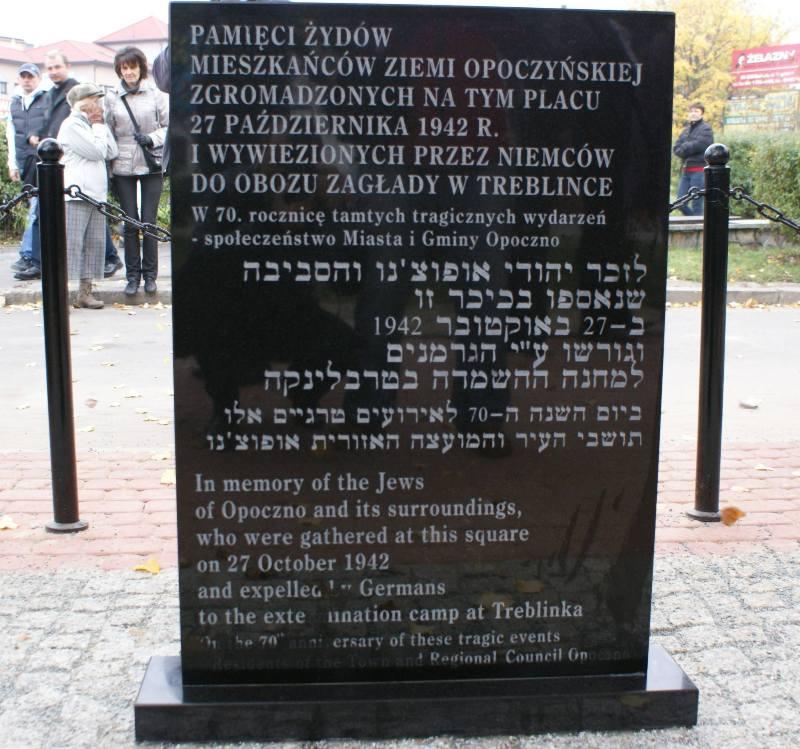 Wieści Opoczno 70. rocznica zagłady Żydów