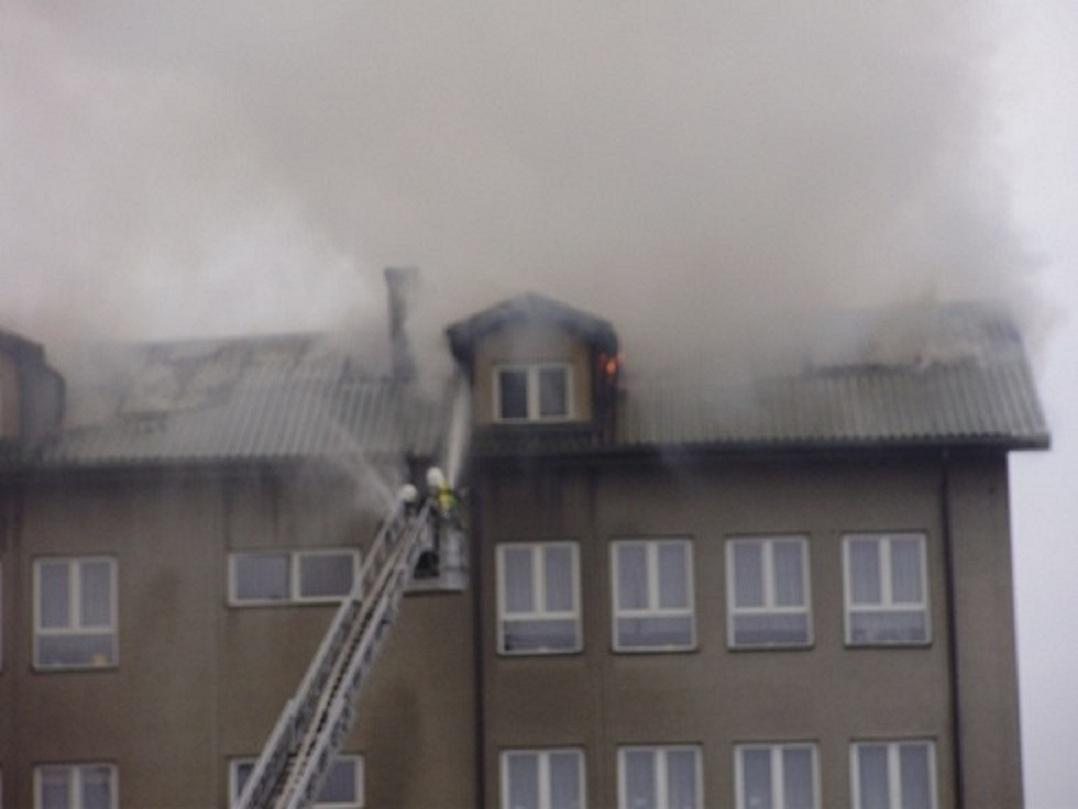 pożar szkoły w Gorzkowicach