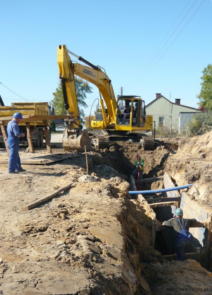 Wieści budowa sieci kanalizacji w Bełchatowie