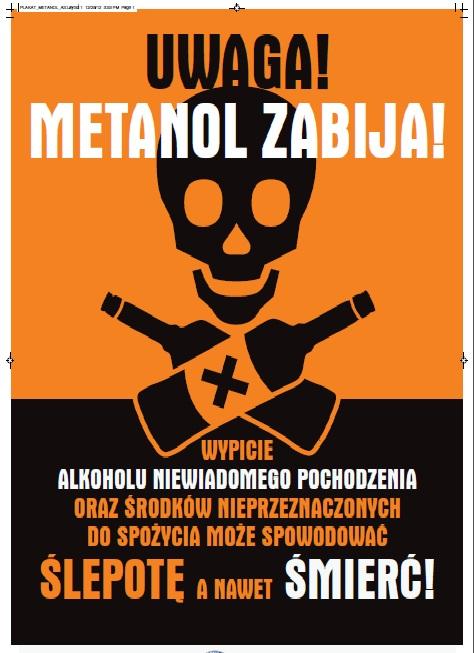 Metanol zabija!