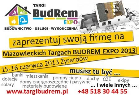 Wieści  targi budrem expo 2013