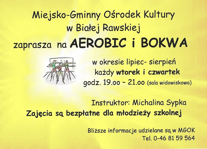 plakat aerobic bokwa