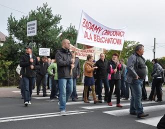 Wieści_Bełchatów_blokada dk 8