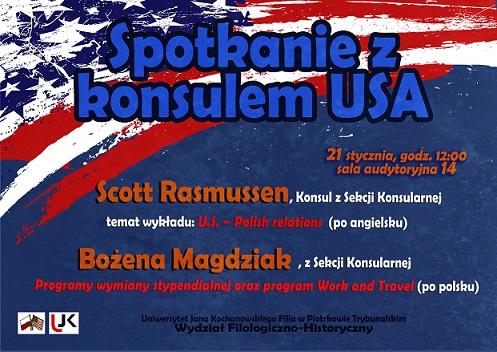 Wieści Konsul USA - plakat