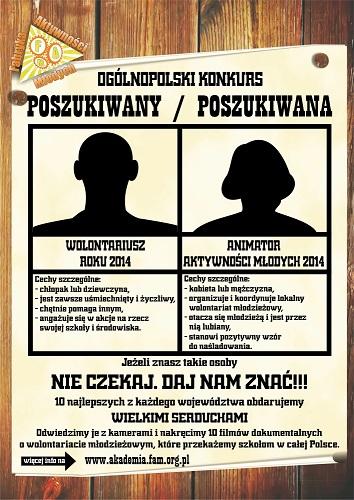 Wieści plakat-poszukiwani-2014