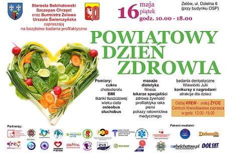 Wieści plakat dzień zdrowia
