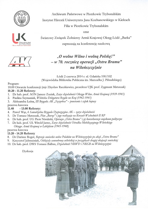 Wieści konferencja o AK - Wilno