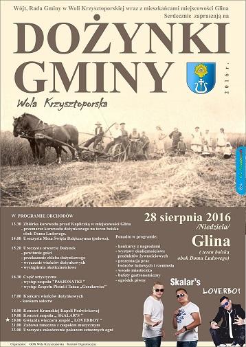 plakat Dożynki 2016